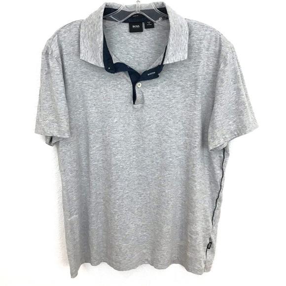 790e5cb1c Hugo Boss Shirts | Slim Fit Polo Shirt Mens Short Sleeve | Poshmark